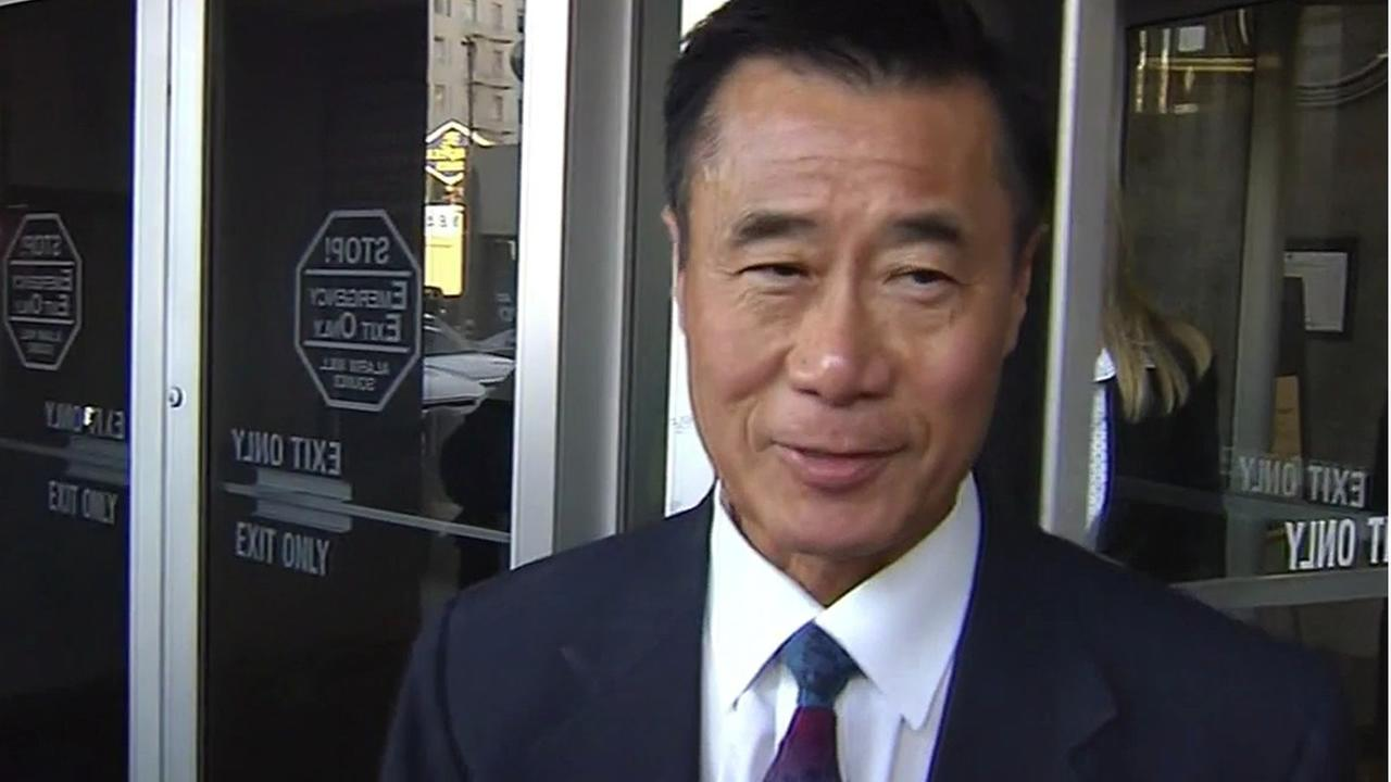 California state senator Leland Yee is seen leaving court in San Francisco, Calif. on Wednesday, February 24, 2016.