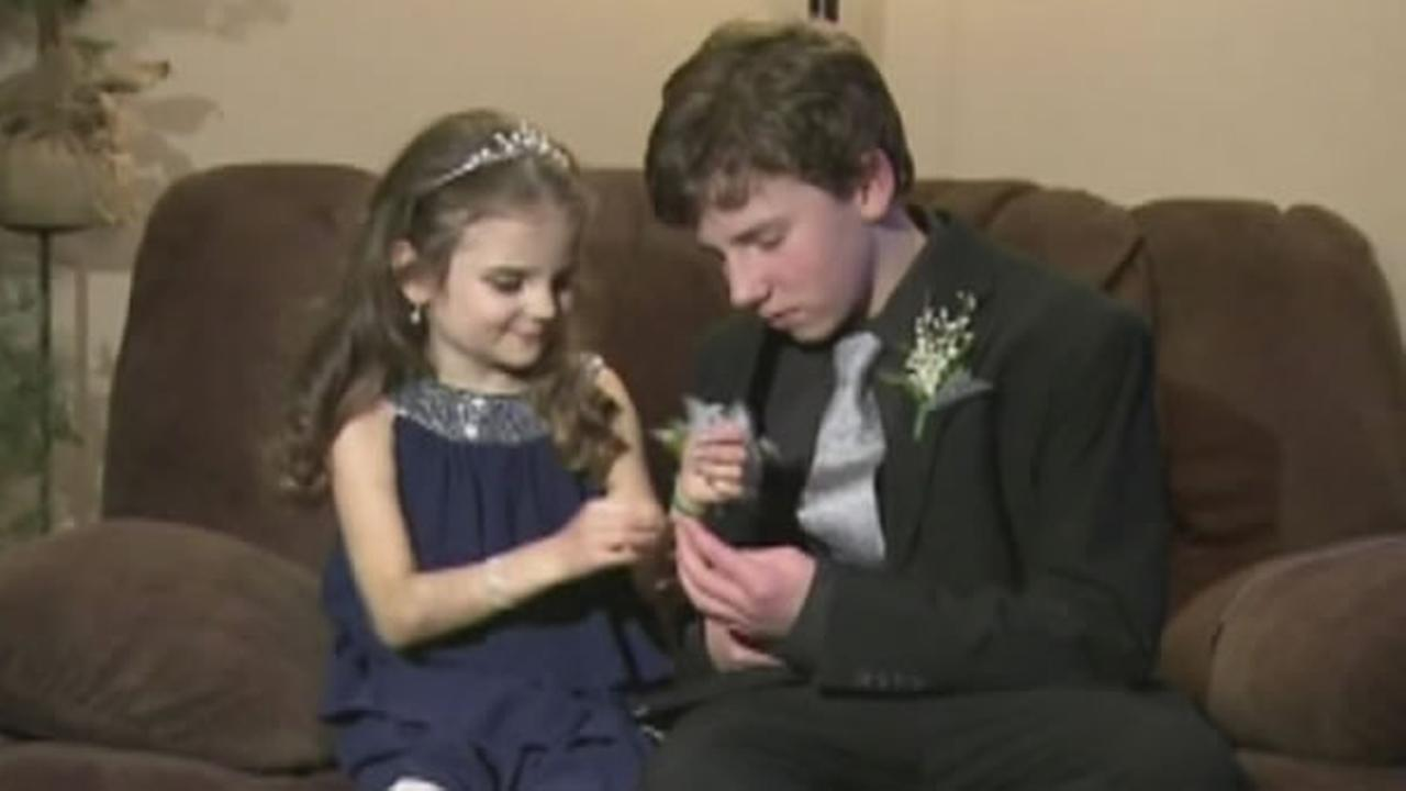 A.J. Spader took his sister, 10-year-old Rebekah Spader, who is dying of bone marrow cancer, to his first high school dance.