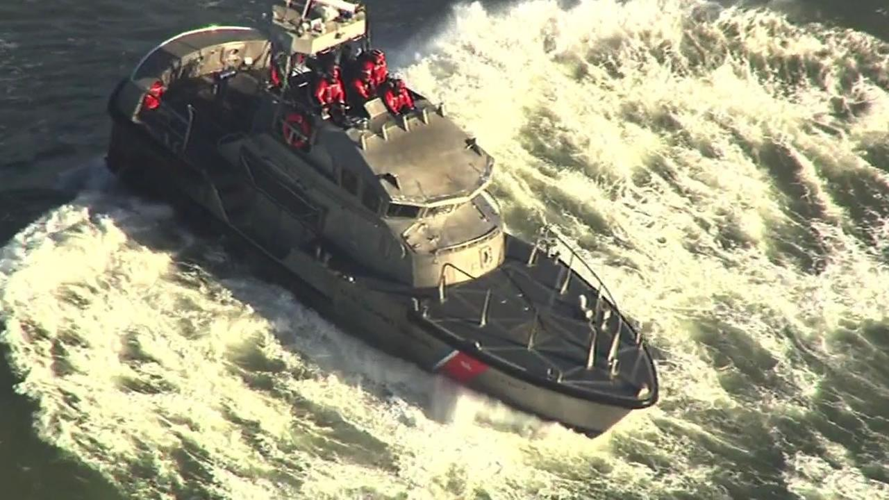 U.S. Coast Guard boat in Half Moon Bay