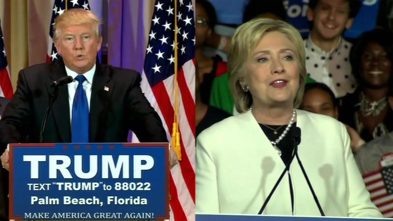 Donald Trump and Hillary Clinton were the leaders Super Tuesday for their respective parties, March 1, 2016.