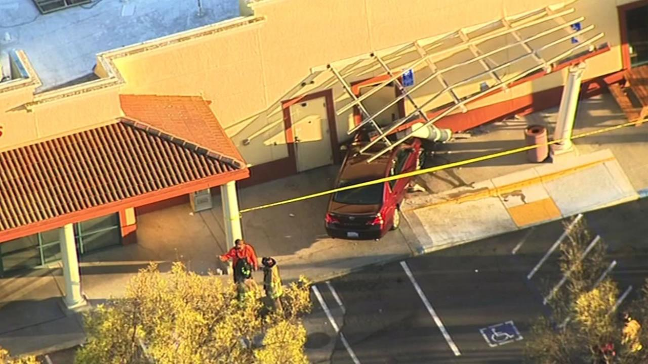 This image shows a car that crashed into a Panda Express in Walnut Creek, Calif. March 2, 2016.