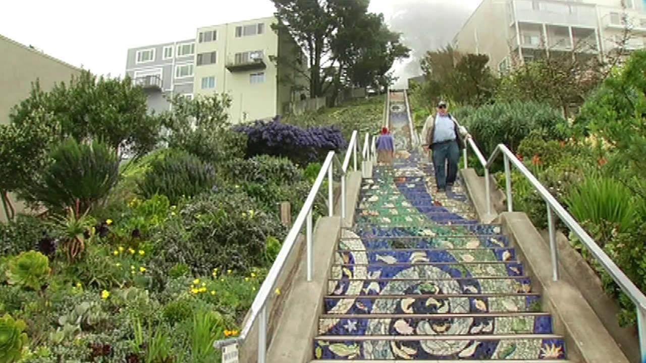 The 16th Avenue Tiled Steps in San Francisco, Calif. are seen in this undated image.