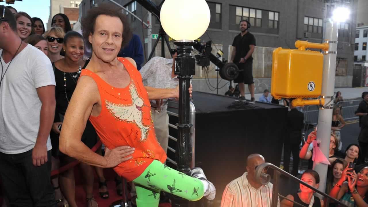 Richard Simmons arrives at the MTV Video Music Awards at Barclays Center on Sunday, Aug. 25, 2013, in the Brooklyn borough of New York.