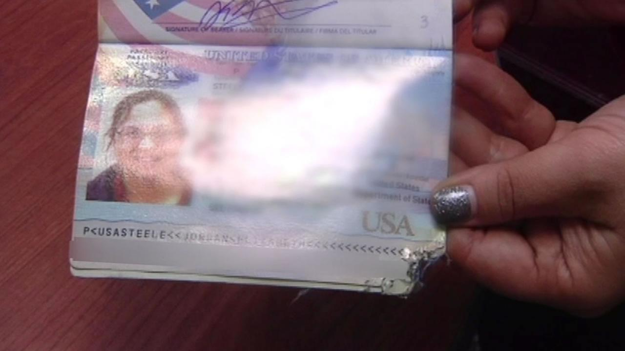 This image shows Pacifica resident Jordan Steeles damaged passport.