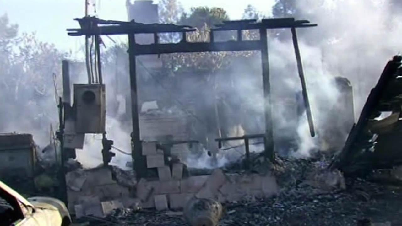 San Jose home burnt down to the ground