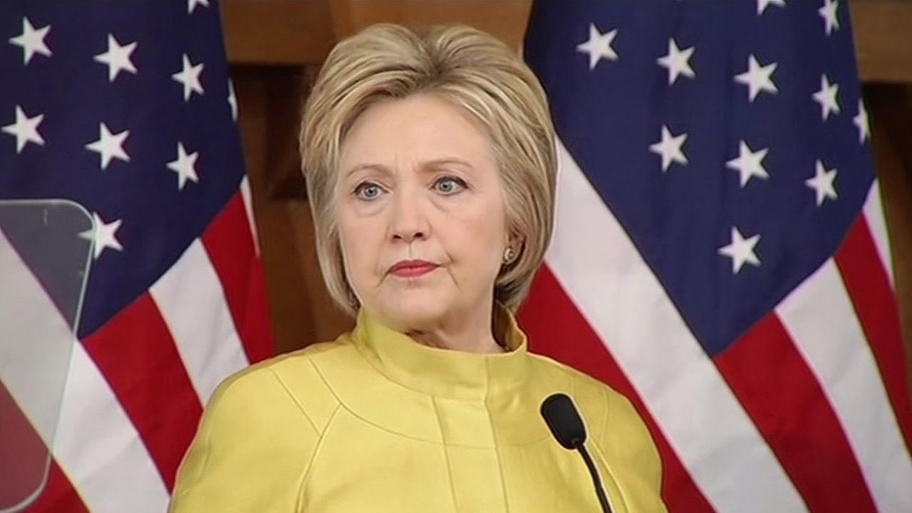 Hillary Rodham Clinton is seen giving a speech at Stanford University in Palo Alto, Calif. on Wednesday, March 23, 2016.