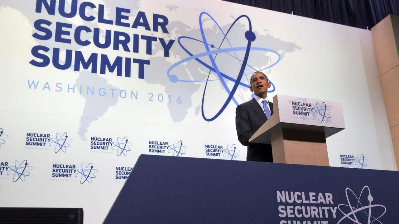 President Barack Obama speaks during a news conference at the conclusion of the Nuclear Security Summit in Washington, Friday, April 1, 2016.