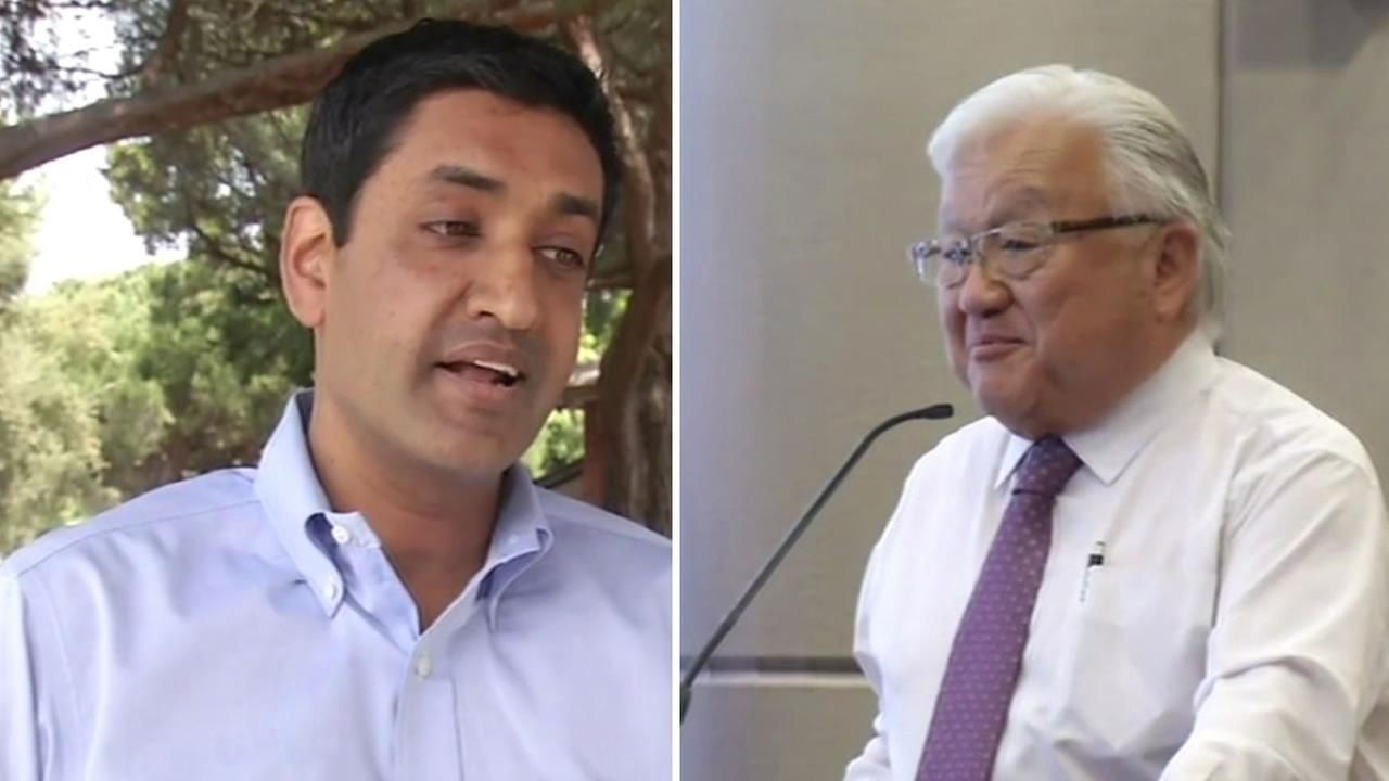 South Bay congressional candidate Ro Khanna (left) and incumbent MIke Honda sounded off Thursday, April 7, 2016 on transgender rights.