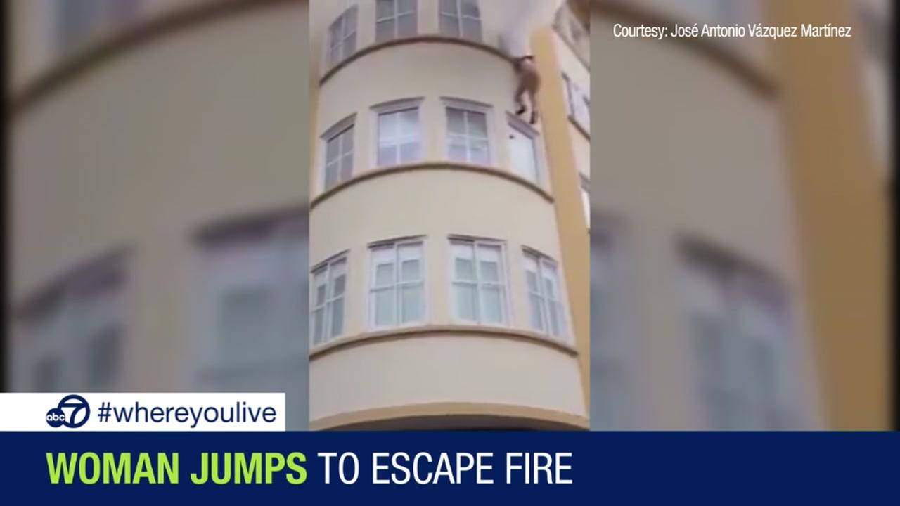 KNOW and TELL: Woman jumps from window of burning building