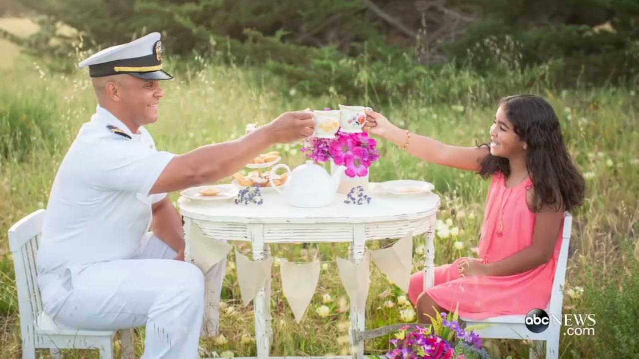 ?Military Tea Time? photos show bond between parents, kids
