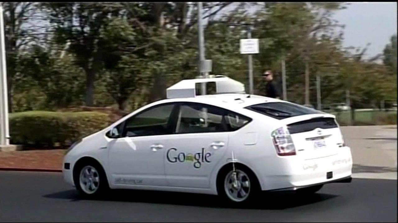 A self-driving Google car is seen in this undated image.