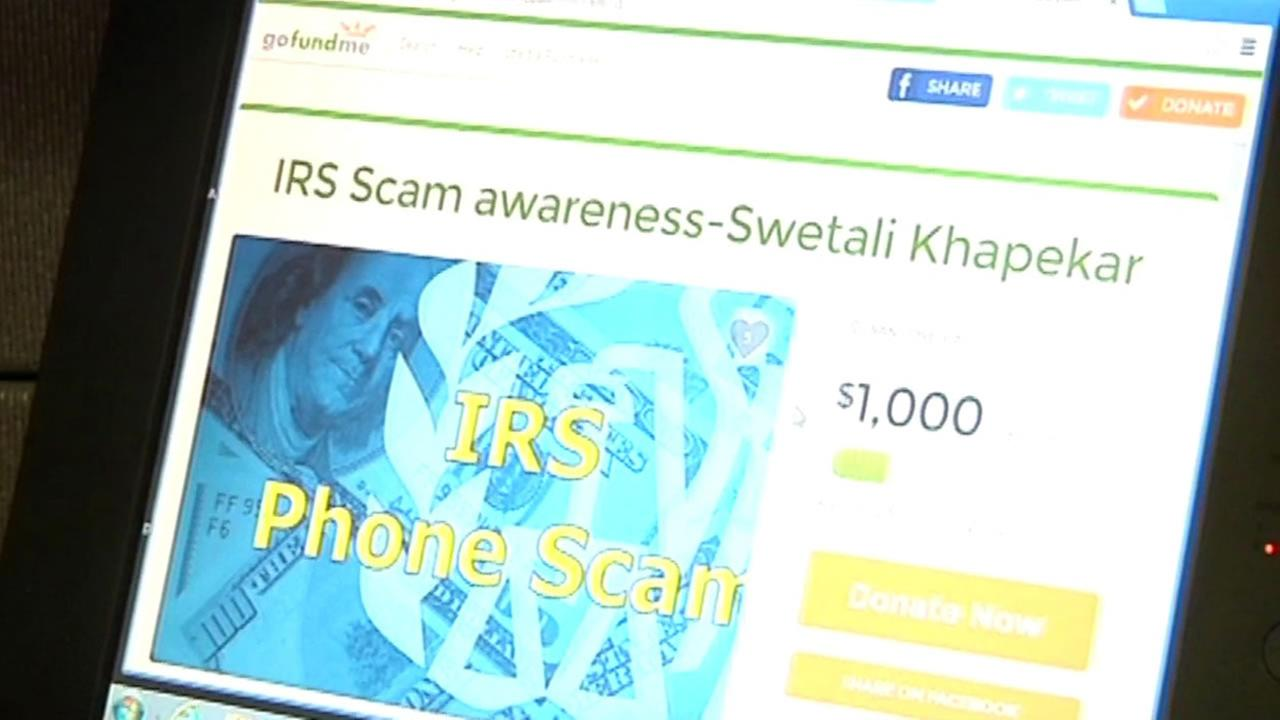 This image is a screen shot of the GoFundMe account for Swetali Khapekara who was the victim of a tax scam.