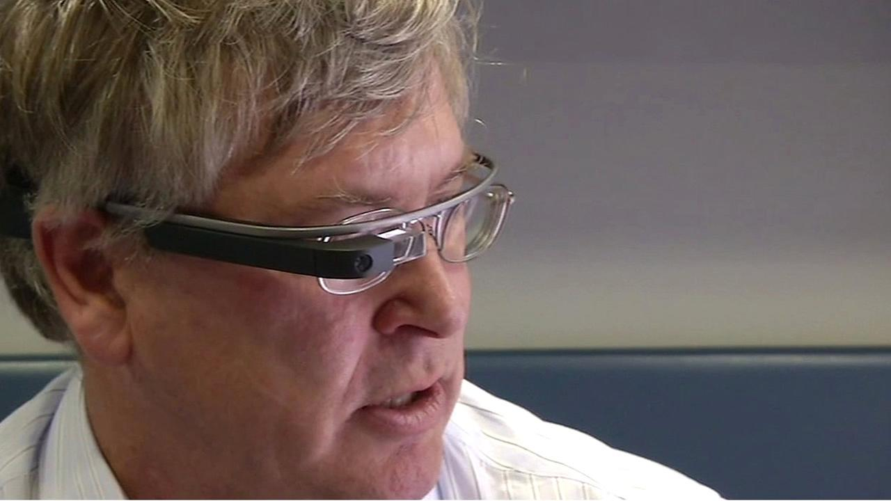 UCSF Neurovascular Services Director Wade Smith, M.D., is seen wearing Google Glass in this undated image.