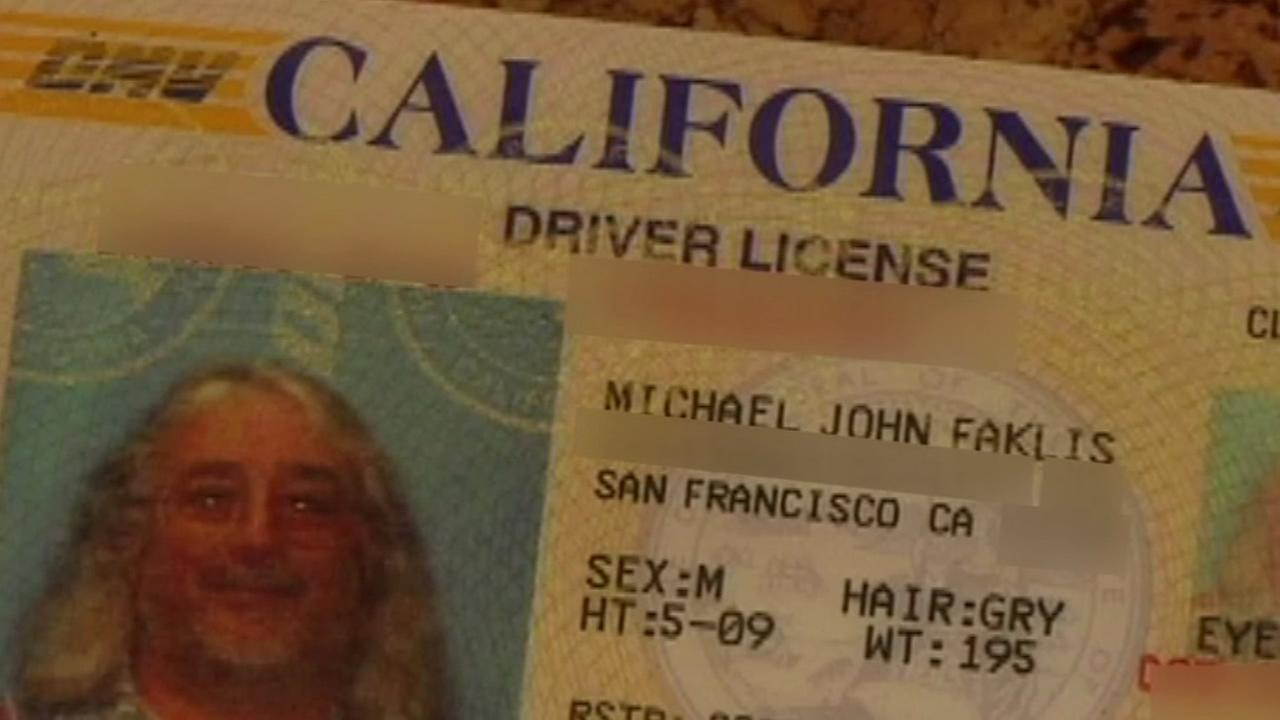 The drivers license of Michael John Faklis is seen in this undated image.