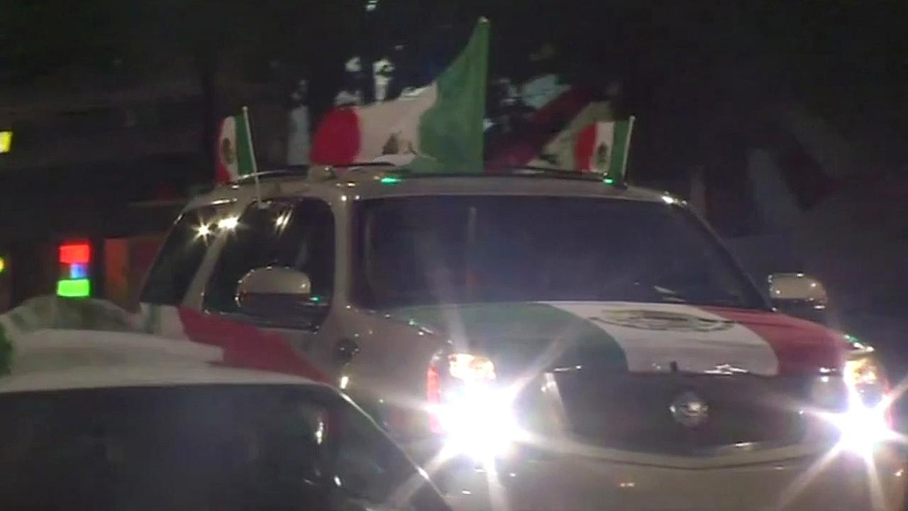 A Mexico flag is seen on an SUV in San Jose, Calif. on Thursday, May 5, 2016.