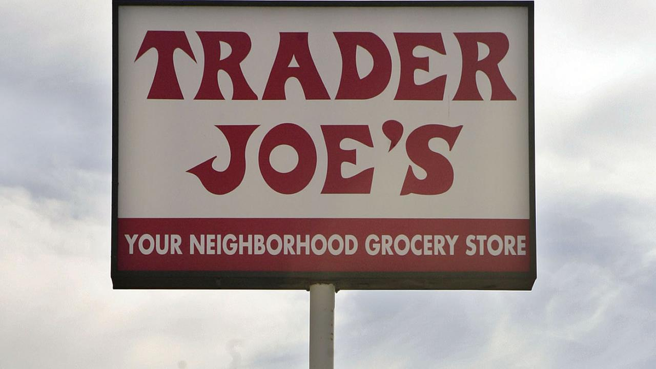 FILE - In this Feb. 11, 2008 file photo, a Trader Joes grocery store is seen in Los Angeles. (AP Photos/Ric Francis, File)