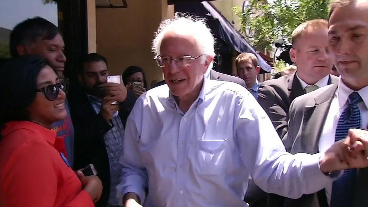 Presidential Democratic candidate Bernie Sanders is seen in Oakland, Calif. on Monday, May 10, 2016.