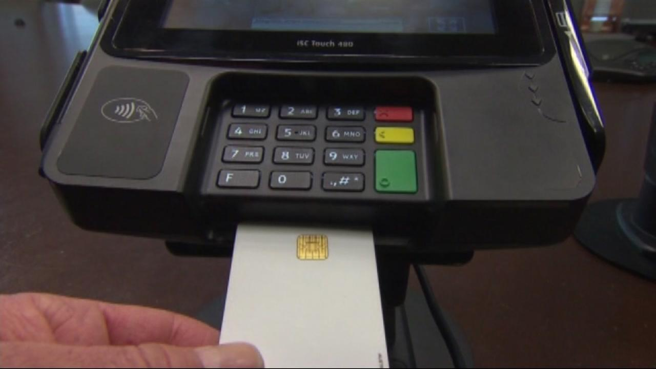 A credit card transaction is seen in this undated image.