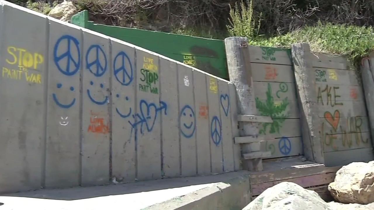 This image shows graffiti in Bolinas, Calif.