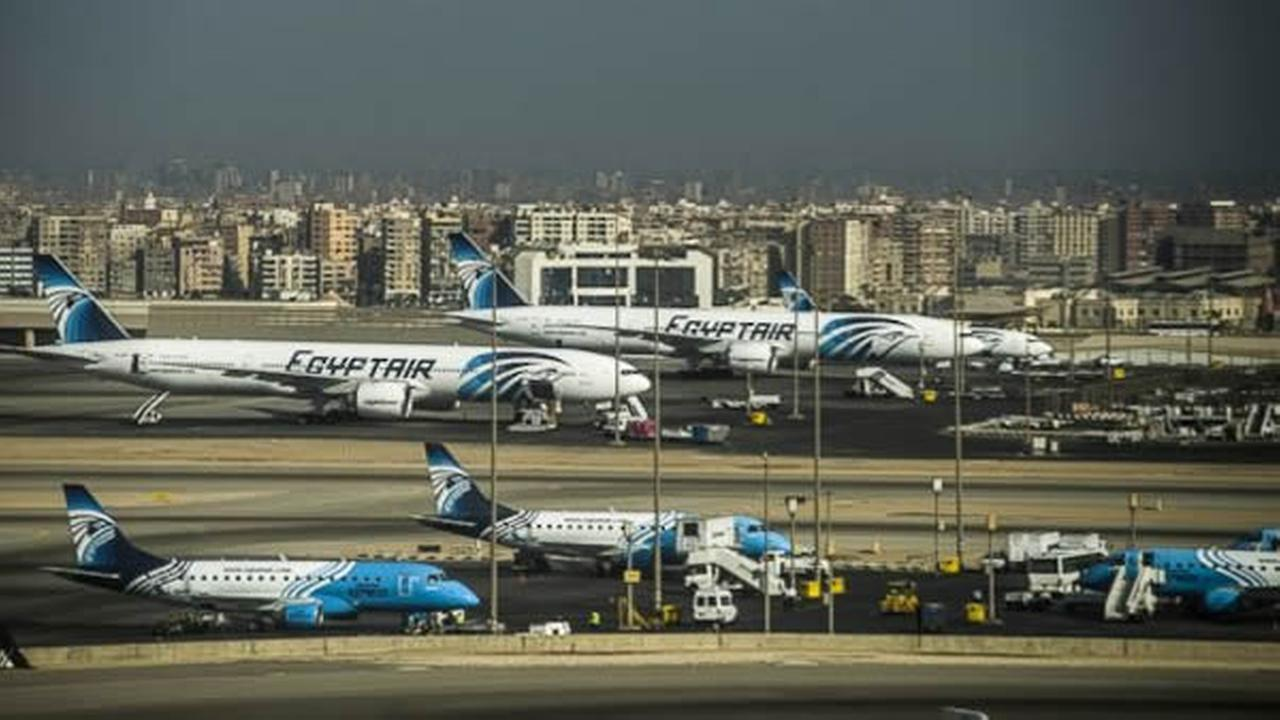 EgyptAir planes are seen in this undated image.