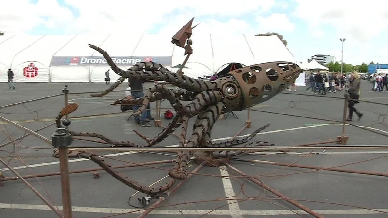 This image shows someones creation at Makers Faire in San Mateo, Calif. on May 20, 2016.