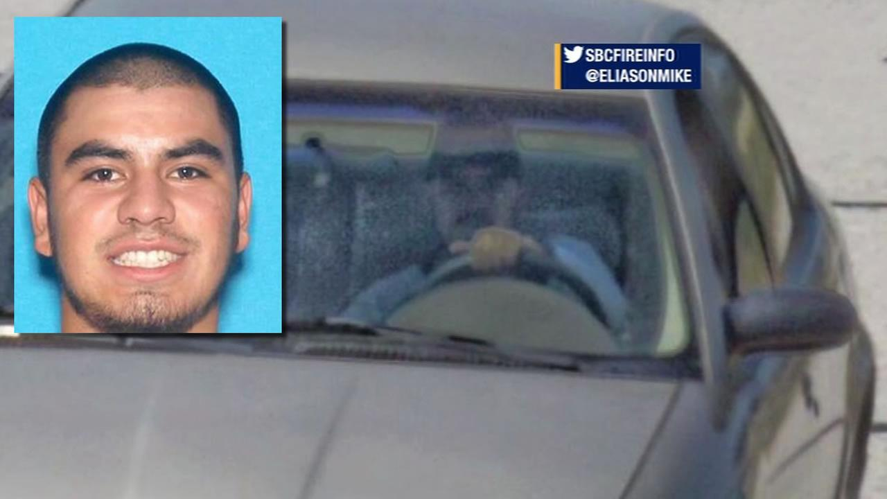 This image shows the car belonging alleged kidnapper Fernando Castro as he was driving in the Bay Area. Castro was later killed in a shootout in Santa Barbara County May 26, 2016.