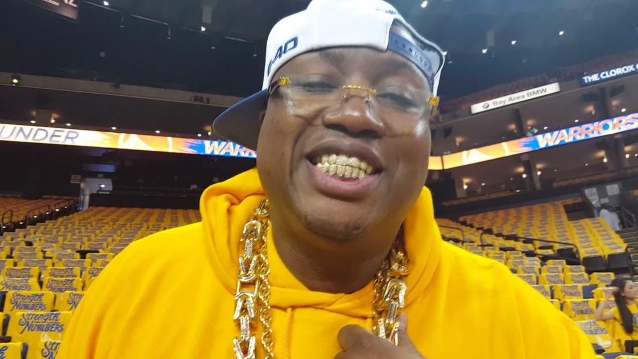 E40 cheers on Warriors ahead of Game 7