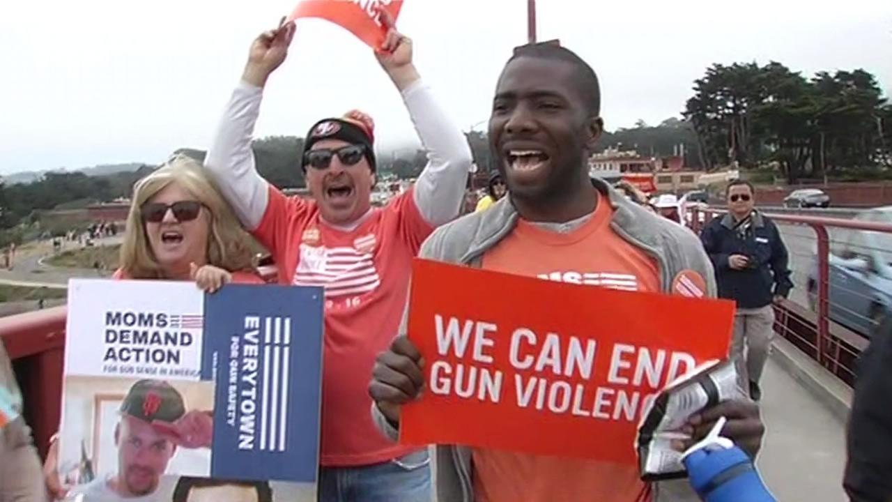 Family and friends of gun violence victims marched in nearly 200 cities Thursday, rallying for stricter gun laws.