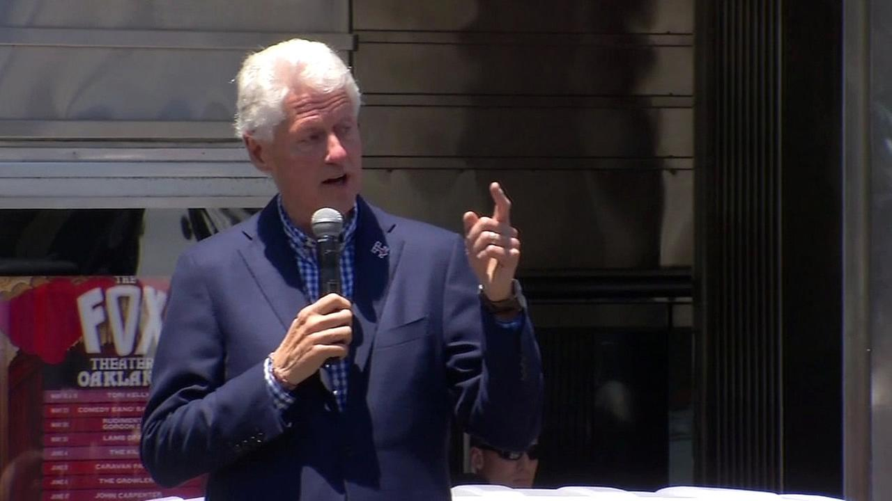 Former President Bill Clinton speaks at a rally in Oakland, Calif. on Monday, June 6, 2016.