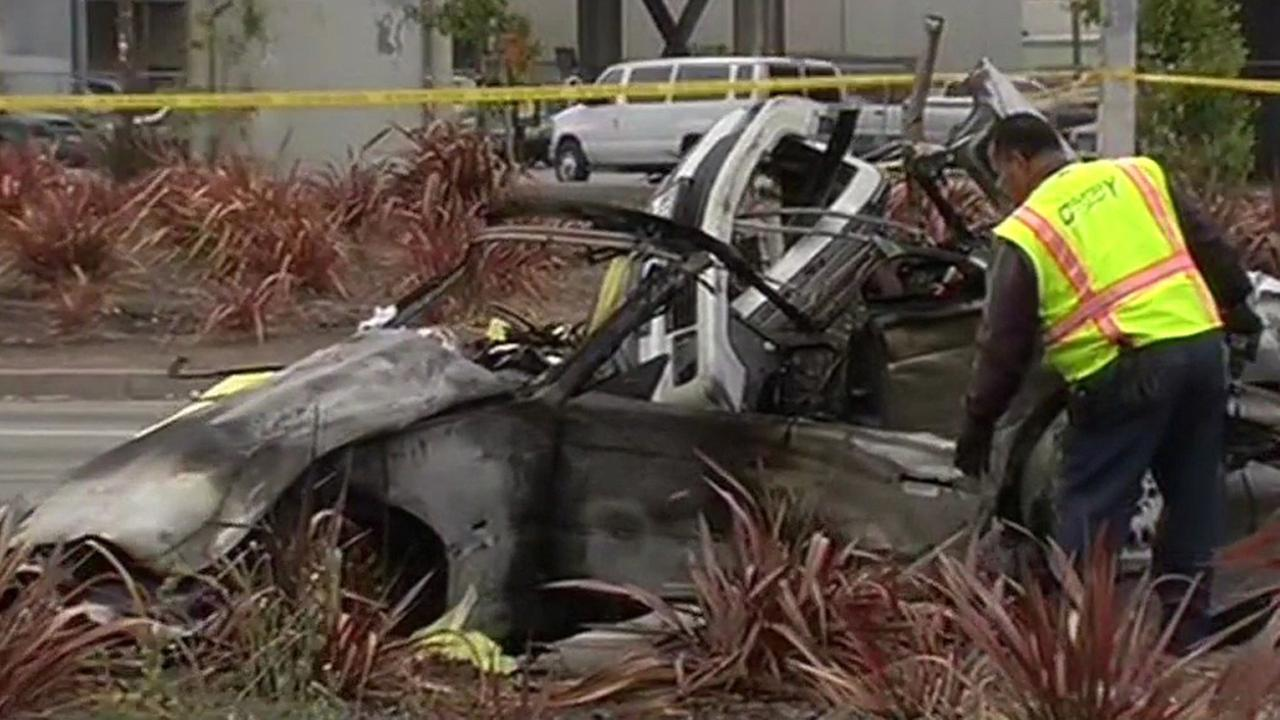 Fatal crash scene in San Francisco