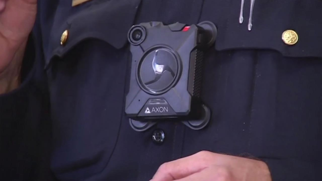 This image shows police body cameras that the San Francisco police will soon be required to wear.