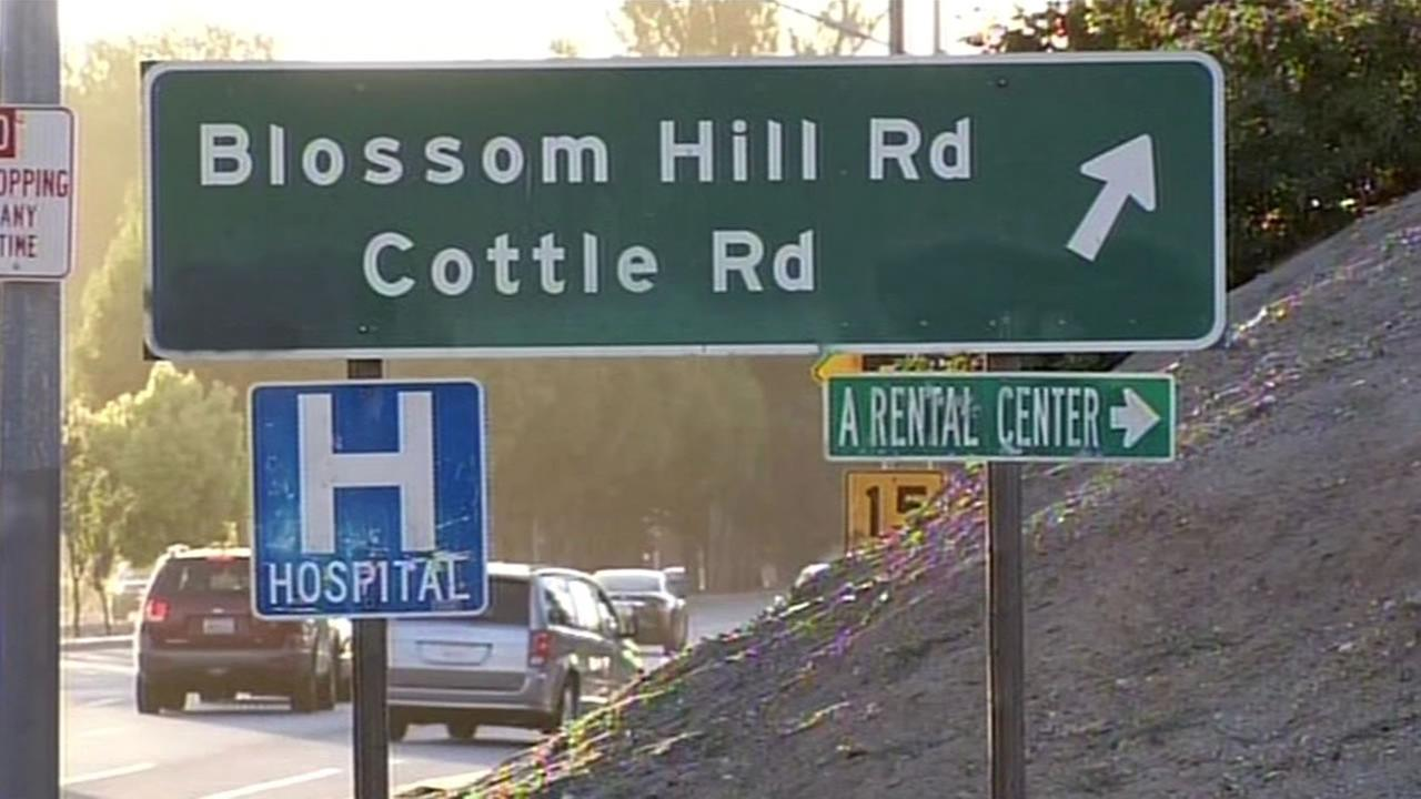 This image shows Blossom Hill Road in San Jose, Calif. on July 5, 2016.