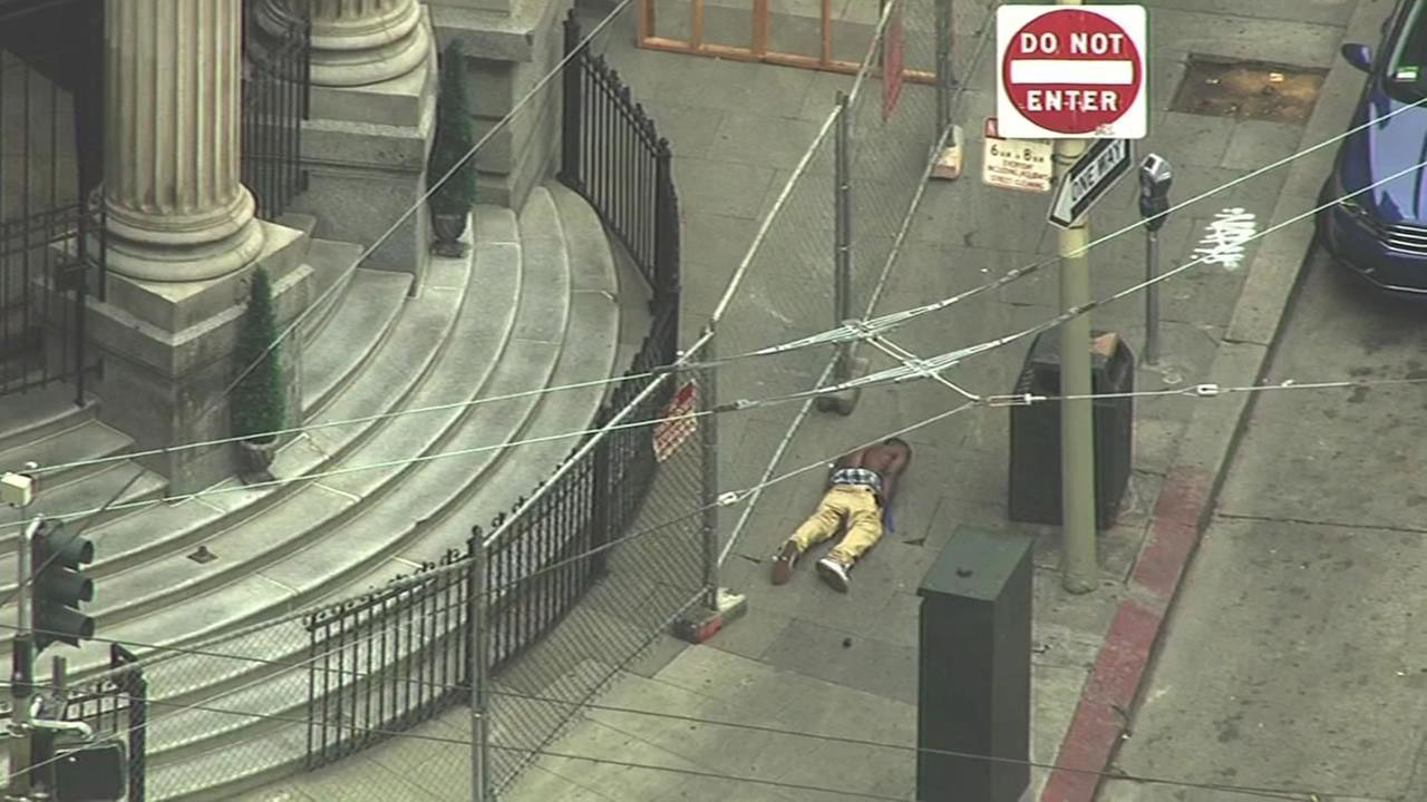 This image shows the suspect involved in a police standoff in San Franciscos Tenderloin District on July, 2016.