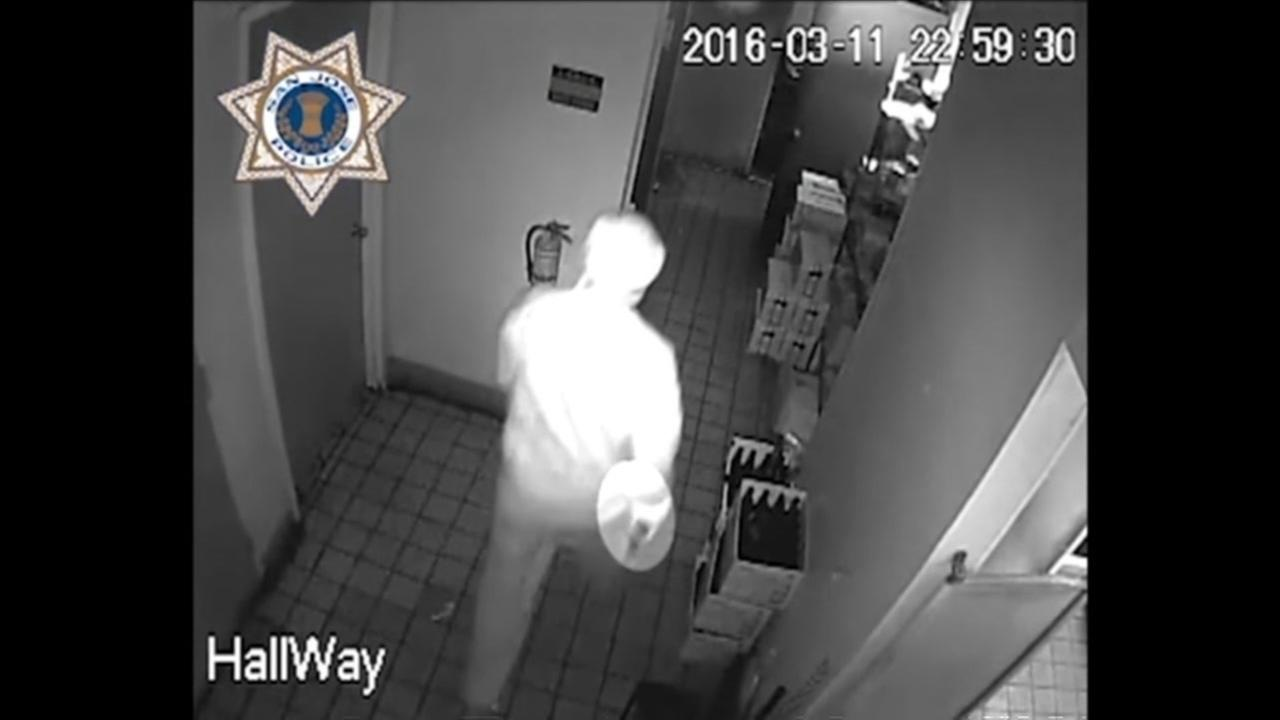 Surveillance video shows a shooting suspect at the Bon Mua Cafe in San Jose, Calif. in March 11, 2016.