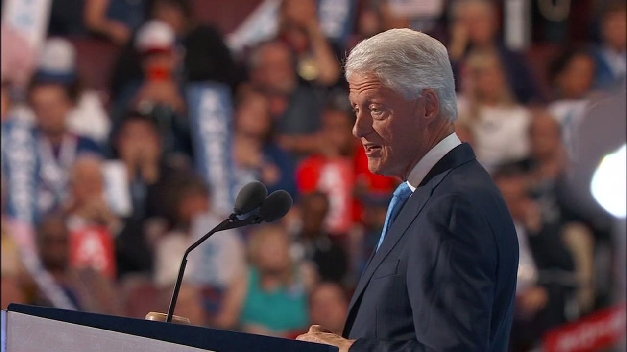 Former President Bill Clinton speaks at the Democratic National Convention on Tuesday, July 26, 2016.