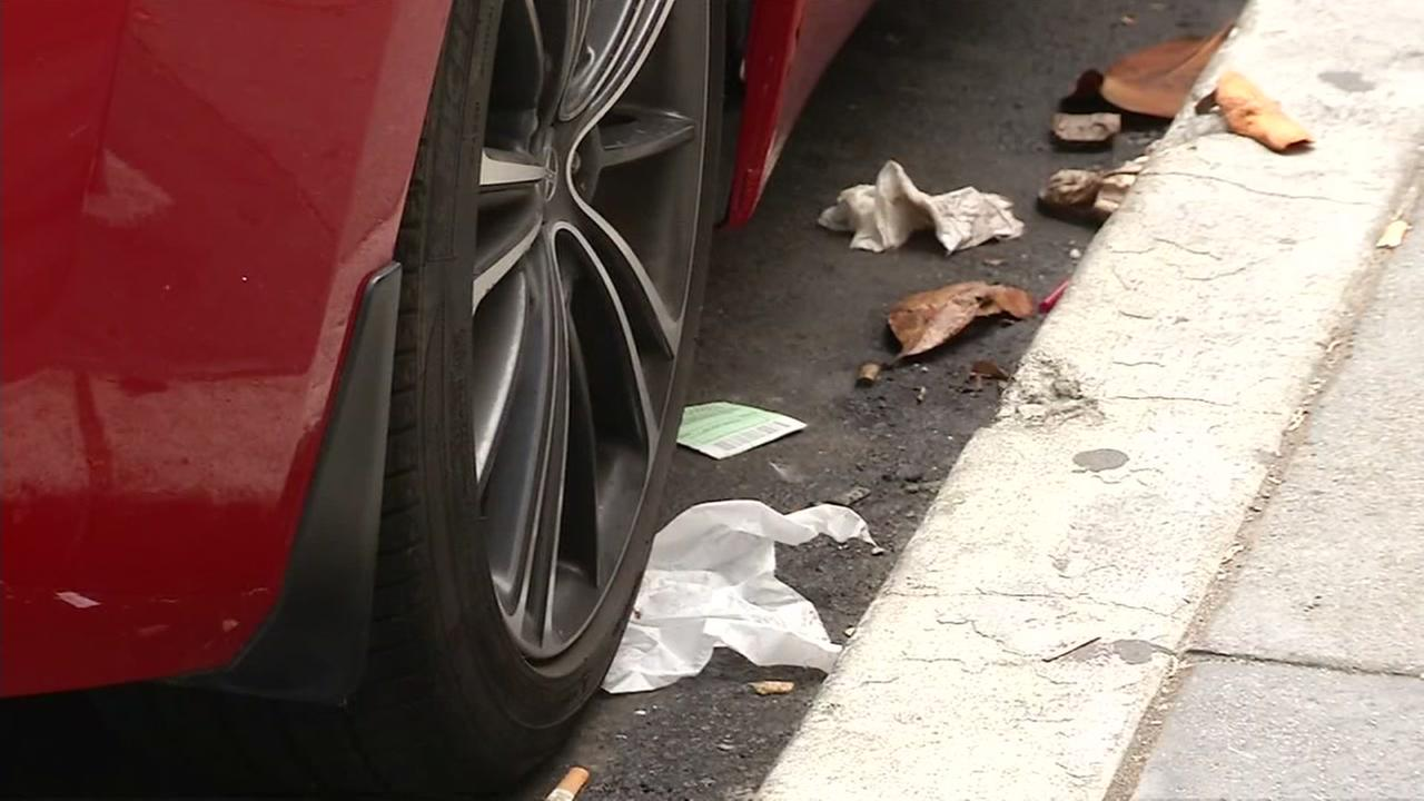 Trash is seen on a street in San Francisco, Calif. in this undated image.