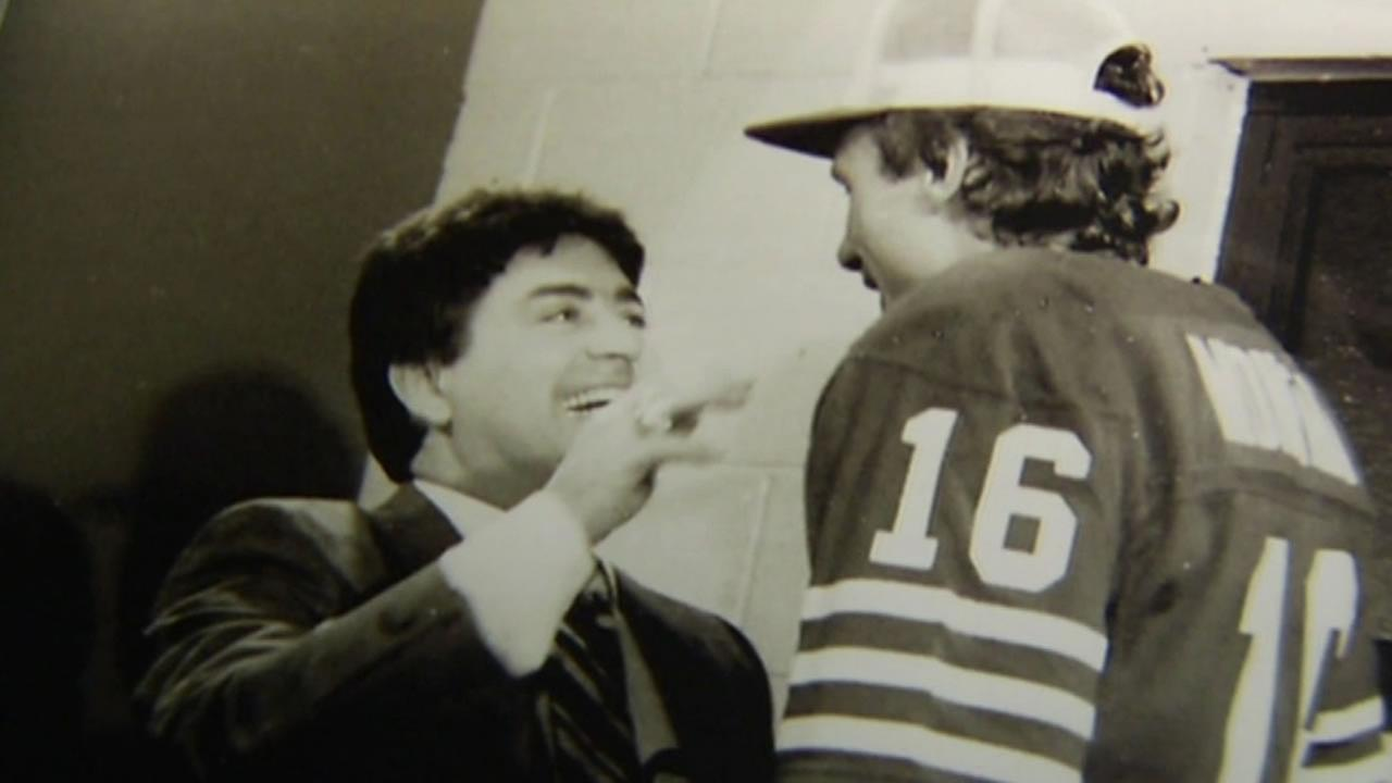 This image shows former San Francisco 49ers coach Eddie DeBartolo.