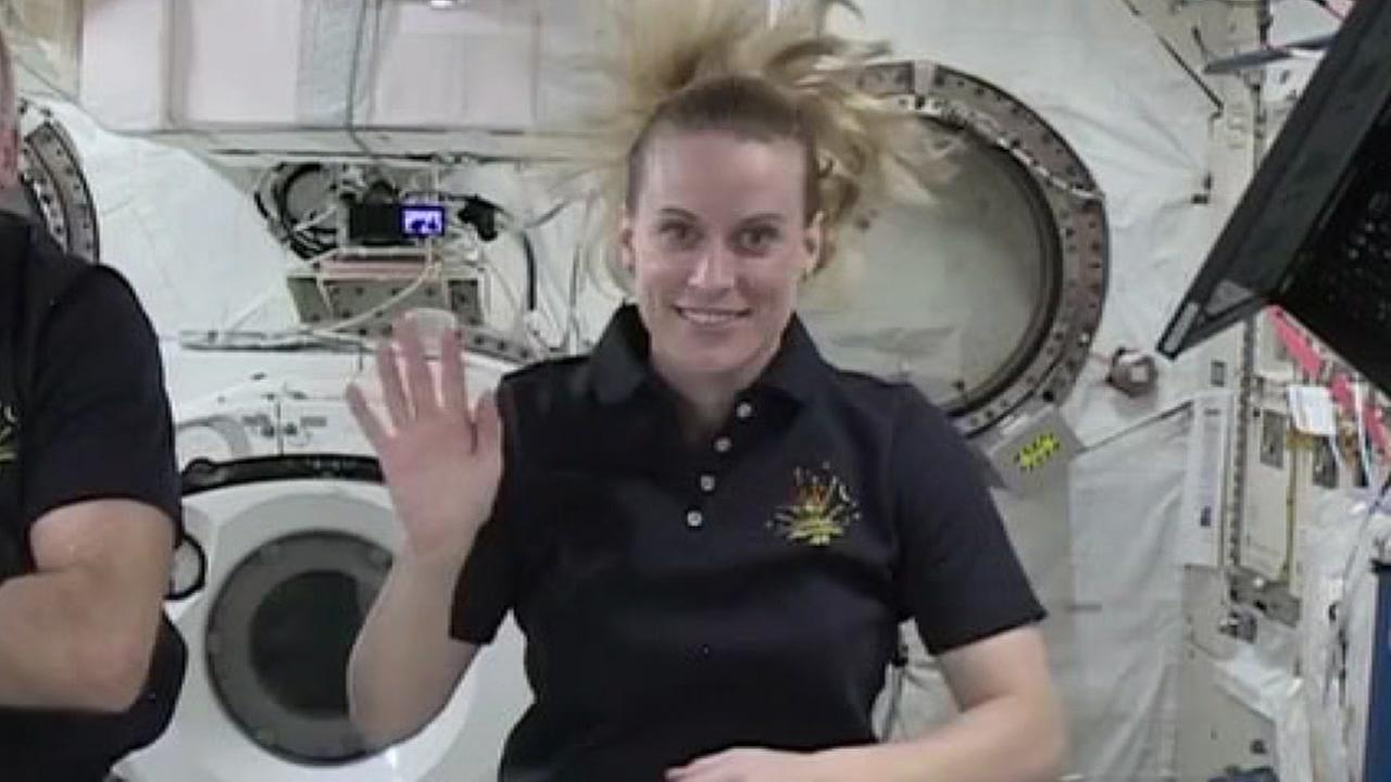 Napa native Kate Rubins is seen aboard the International Space Station in this undated image.