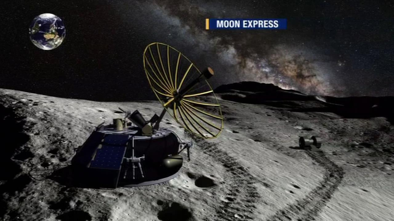 This image shows renderings of Moon Express.