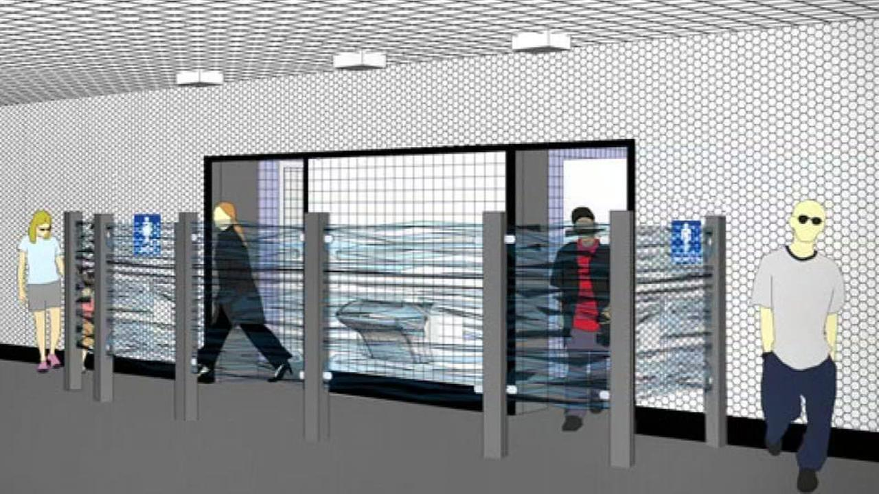 A rendering of what new restrooms may look like at BART are seen in this undated image.