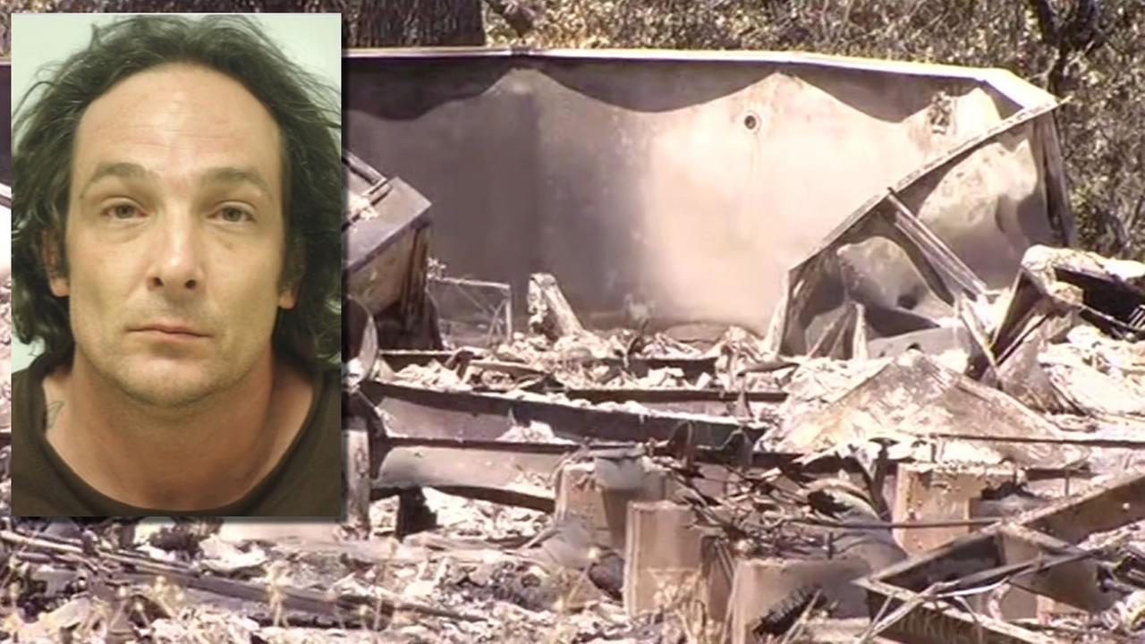 This image shows arson suspect, Damin Anthonuy Pashilk, who was arrested in connection with starting the Clayton fire in Lake County, Calif. on August 16, 2016.