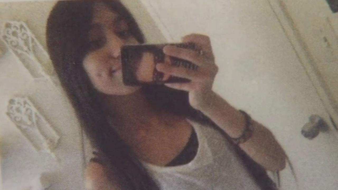 This image shows 18-year-old Dulce Capetillo who was killed in a car crash in San Jose. She was 8-months pregnant and her baby survived, but is in critical condition.