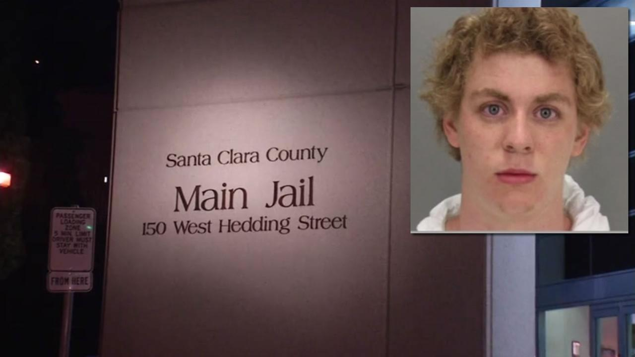 This image shows former Stanford swimmer Brock Turner who is set to be released from Santa Clara County Jail on Sept. 2, 2016 after serving six months for sex assault.