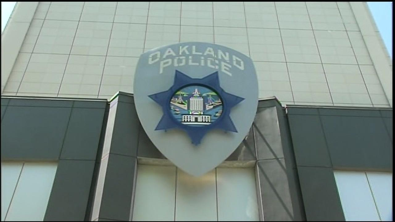 This sign hangs at the Oakland PD headquarters.