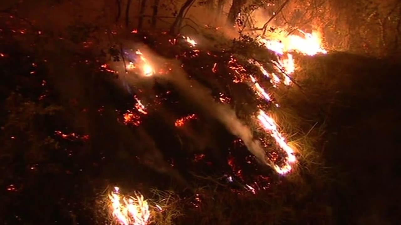 Butts Fire in Napa County
