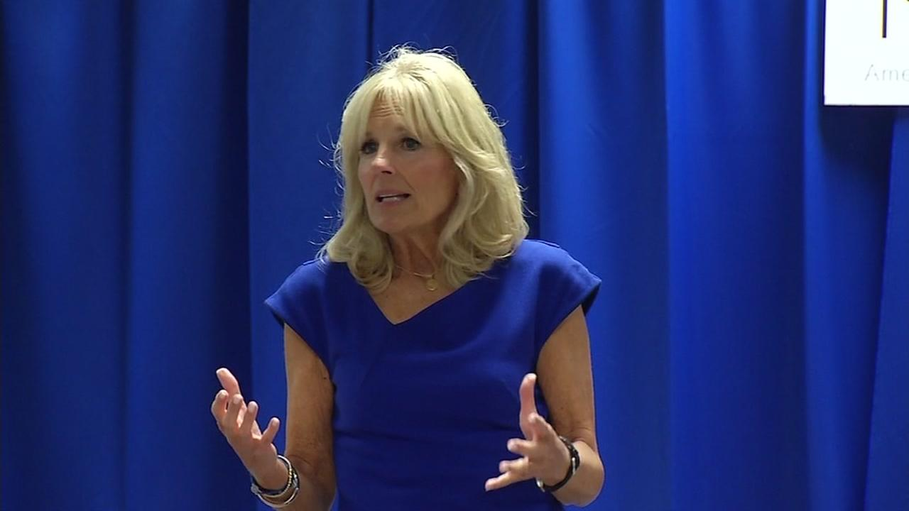 Jill Biden, M.D., is seen speaking at an event in Silicon Valley, Calif. on Wednesday, September 14, 2016.