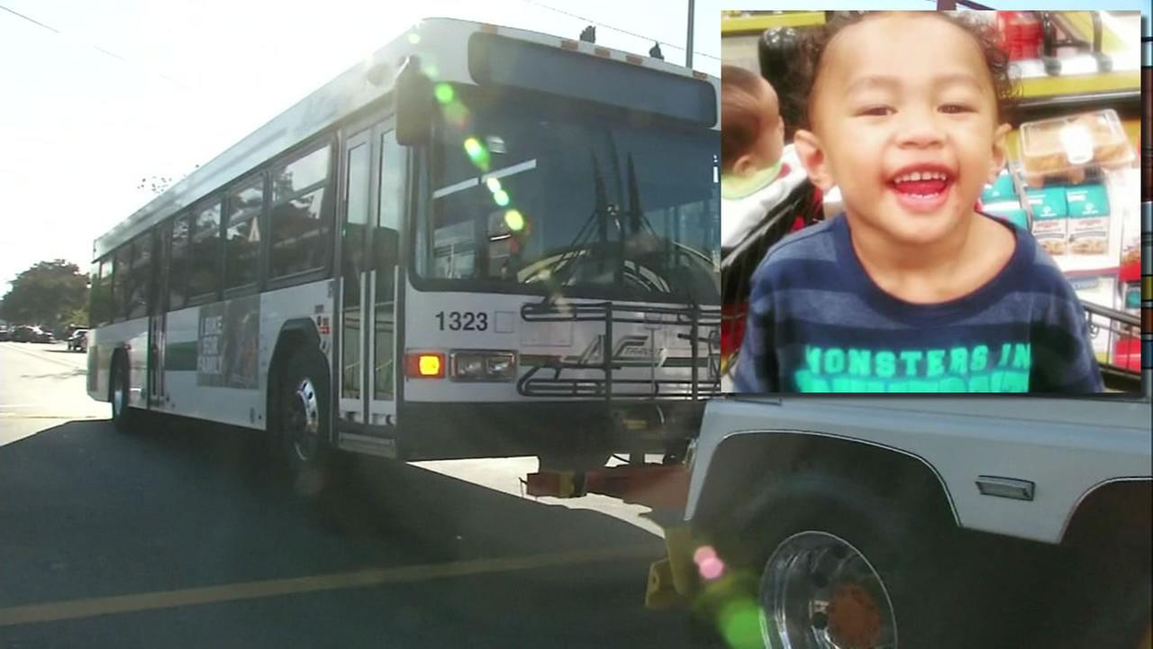 This image shows two-year-old Jeremiah Esera who was killed after getting hit by an AC Transit bus in Oakland Sept. 20, 2016.