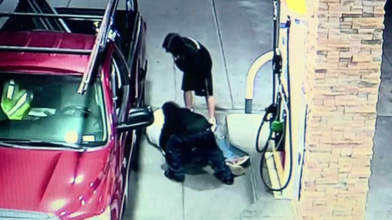 An elderly man was beaten and robbed at a San Bernardino gas station on June 24.