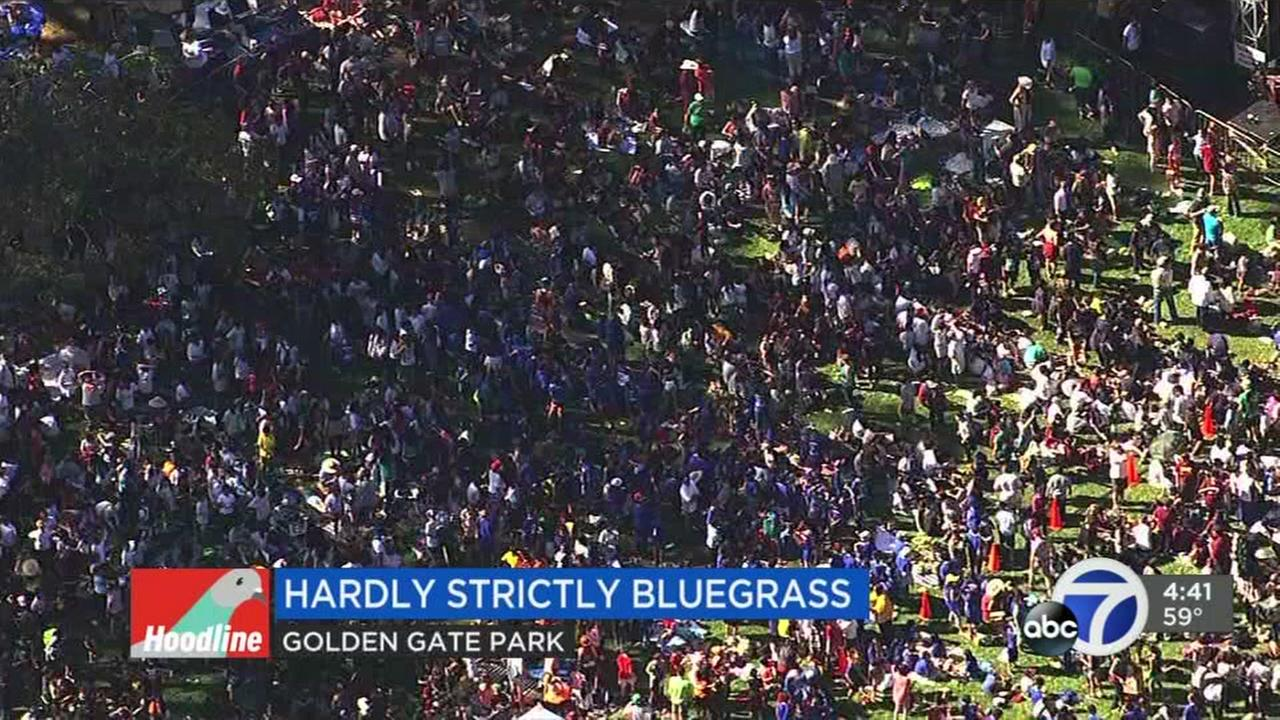 The Hardly Strictly Bluegrass Festival in San Francisco is seen in this undated image.