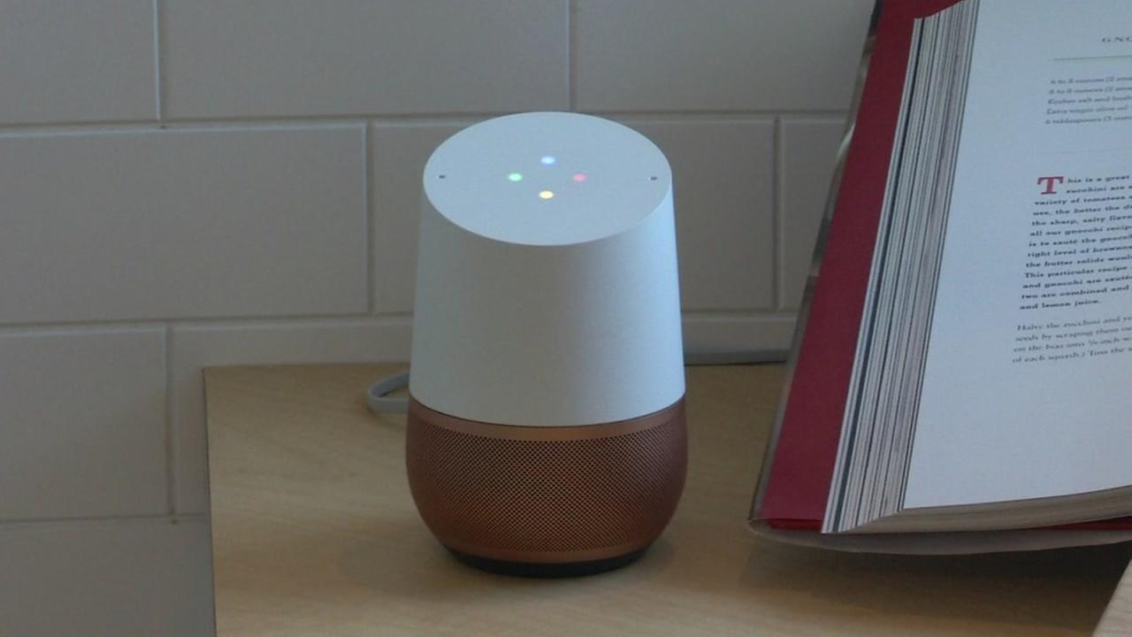 Google Home is seen in this undated image.